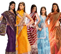 Five Super Net Saree Combo