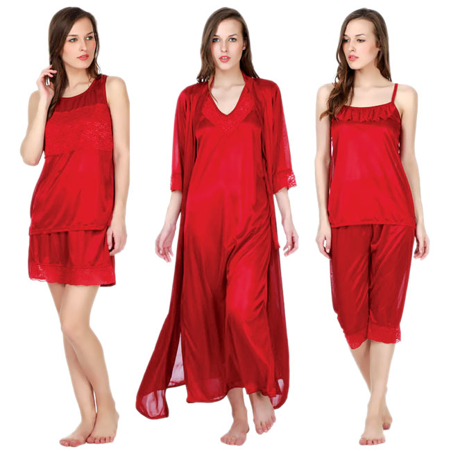 6 Pcs Nightwear Set