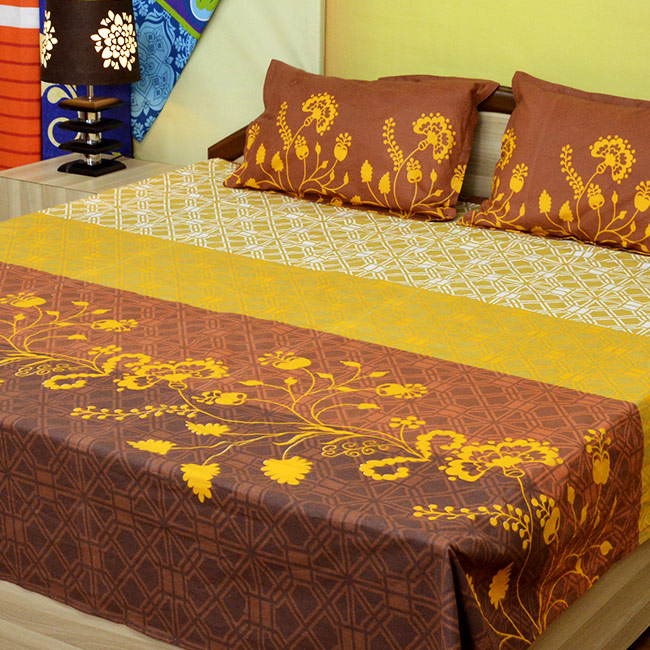 Darvi 6 Cool Cotton Luxury Double Bed Sheets Combo From